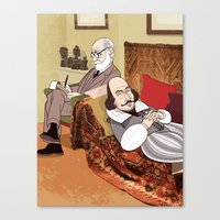 Freud analysing Shakespeare Canvas Print