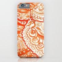 orange brushstroke iPhone 6 Slim Case