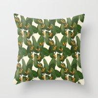 tropical floral Throw Pillow
