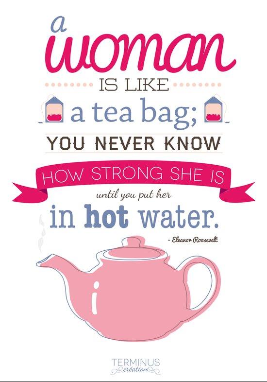 Women and tea Art Print