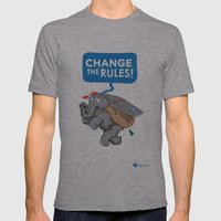 CHANGE The RULES Mens Fitted Tee Athletic Grey SMALL