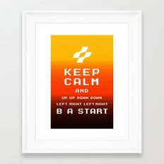 keep calm konami. Framed Art Print