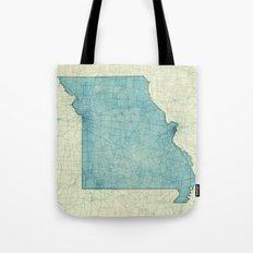 Missouri State Map Blue … Tote Bag