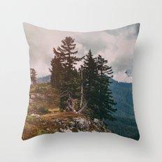 Northwest Forest Throw Pillow