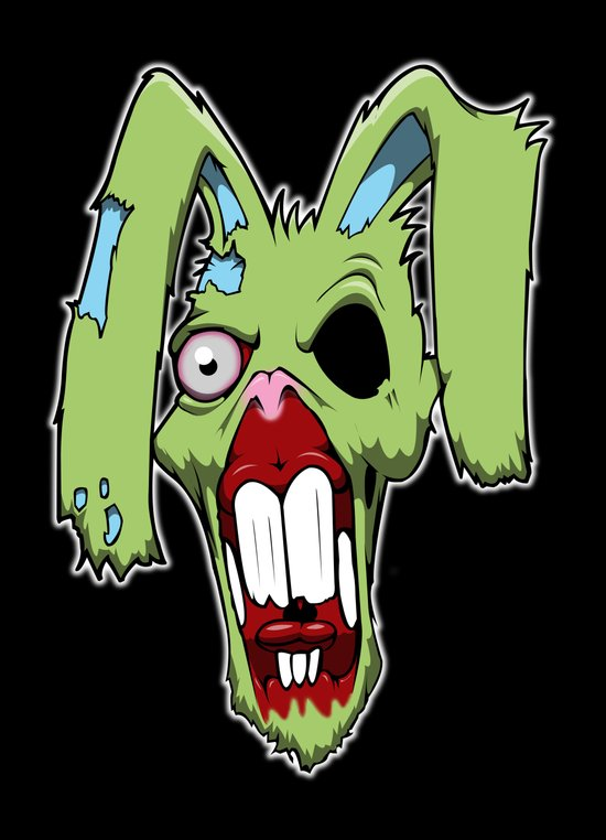 Zombie easter bunny 1 Canvas Print