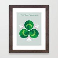 White Clover Framed Art Print