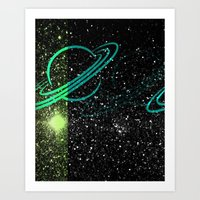 Flash Star Art Print