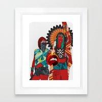 Native Love  Framed Art Print