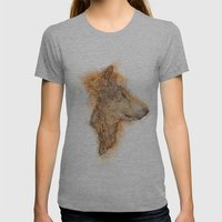 Wolf Flare Womens Fitted Tee Athletic Grey SMALL