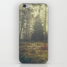 They Whisper Things iPhone & iPod Skin