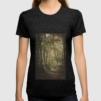 A Walk in the Woods Womens Fitted Tee Tri-Black SMALL