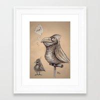 Bird sketch I Framed Art Print