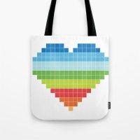 Pixelated Heart. Tote Bag