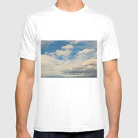 Clouds in the Sky Mens Fitted Tee White SMALL