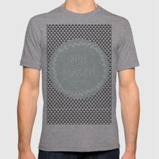 Hello Beautiful, Geometric, Quote, Modern, Home Decor Mens Fitted Tee Athletic Grey SMALL