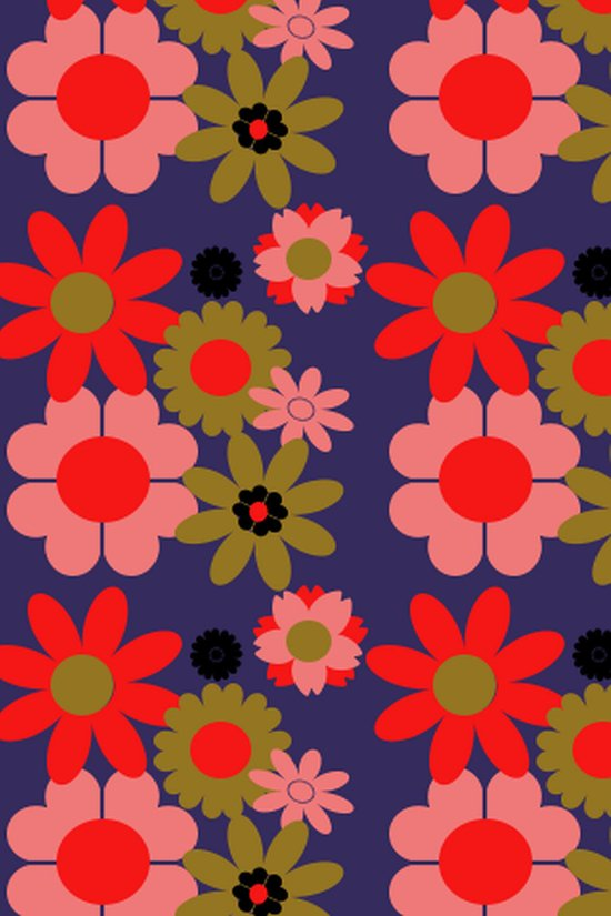 Groovy baby floral Art Print