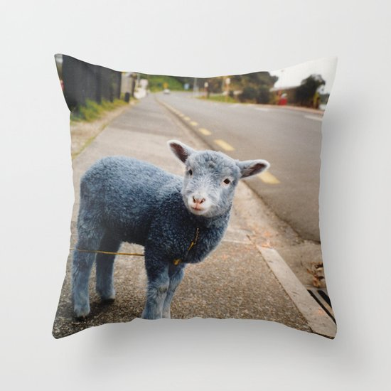 Blue? Sheep? Throw Pillow