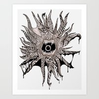 Ink'd Kraken Art Print