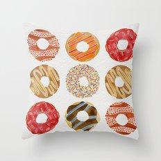 Half Dozen Donuts Throw Pillow