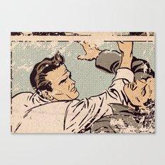 Pop Fight Canvas Print