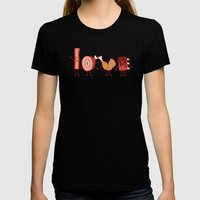 Meat Love U Womens Fitted Tee Black SMALL