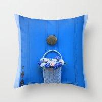 The Blue Door Throw Pillow