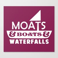 Moats and Boats and Waterfalls Graphic Canvas Print