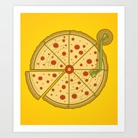 Pizza Vinyl Art Print