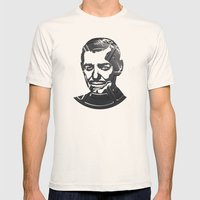 Clark Gable Mens Fitted Tee Natural SMALL