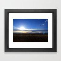 Wyoming Sunset 1 Framed Art Print