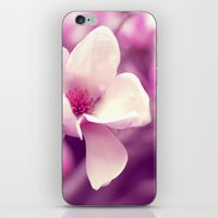 Lonely Flower - Radiant Orchid iPhone & iPod Skin