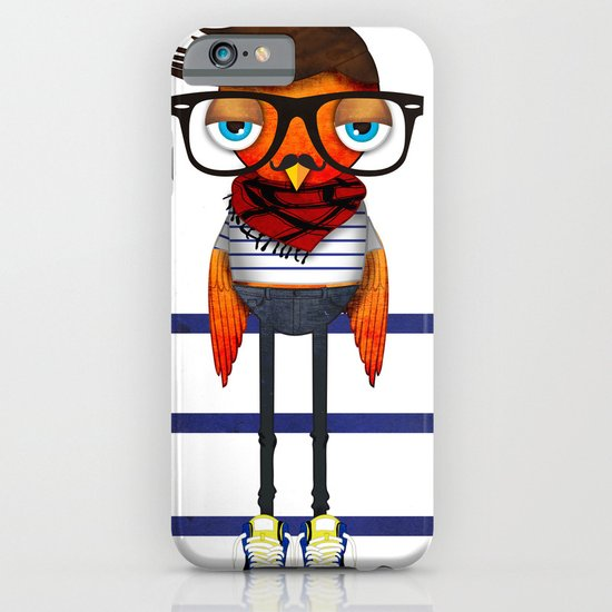 Hipster Bird iPhone & iPod Case