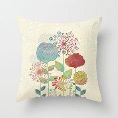 Flower Tales Throw Pillow
