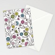 Black Border Florals Stationery Cards