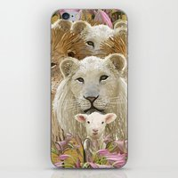 Lions led by a lamb iPhone & iPod Skin