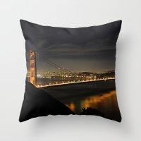 Golden Gate Bridge @ Night Throw Pillow