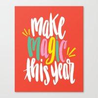 Make Magic This Year Canvas Print