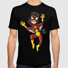 Spiderwoman SMALL Black Mens Fitted Tee