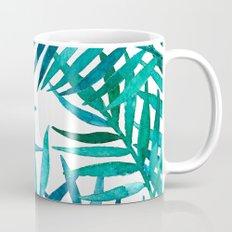 Watercolor Palm Leaves on White Mug
