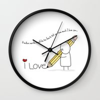I Love You...  Wall Clock
