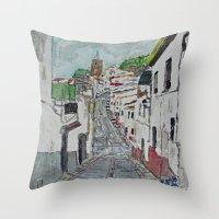 Calle En Ardales Throw Pillow