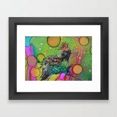 Tufted Coquette Bird Framed Art Print