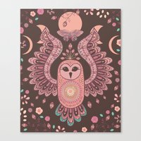 The Owl, The Moon & The … Canvas Print