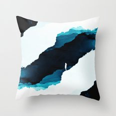 Teal Isolation Throw Pillow
