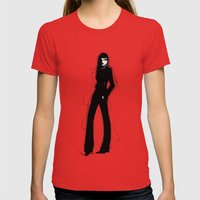 Stylish Womens Fitted Tee Red SMALL