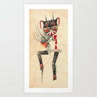 Dancing Mascarita Art Print