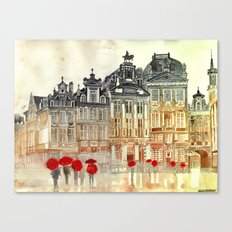 market in Brussels  Canvas Print