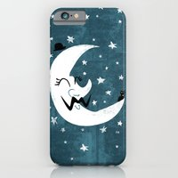iPhone & iPod Case featuring Moon Cat by David Finley