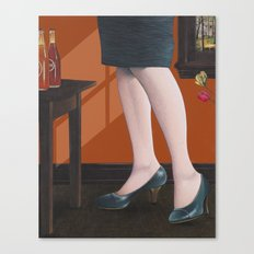 girl with legs Canvas Print