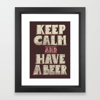 Keep Calm And Have A Bee… Framed Art Print